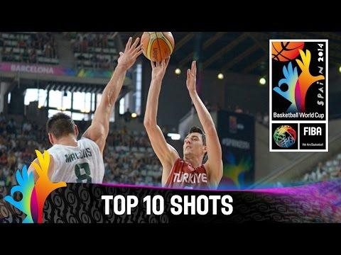 watch Top 10 Shots - 2014 FIBA Basketball World Cup