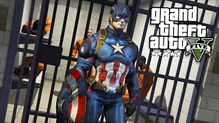 GTA 5 PLAY AS A COP MOD - CAPTAIN AMERICA!! Captain America Police Patrol! (GTA 5 Mods Gameplay)