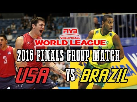 Xxx Mp4 USA Vs BRAZIL 2016 World League Volleyball FINALS Group Match FULL MATCH All Breaks Removed 3gp Sex
