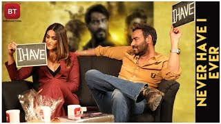 Baadshaho Movie | Ajay Devgn & Ileana D'Cruz Play THRILLING Never Have I Ever | Must Watch