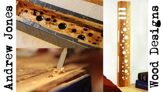 How I made a reclaimed wood and resin LED lamp