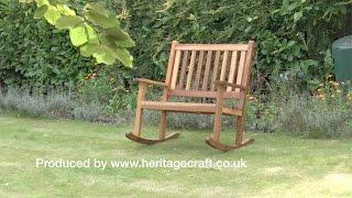 How to make a Rocking Garden Bench