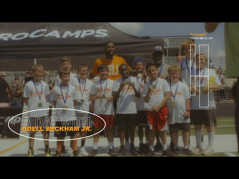 aDayWithOBJ I ran routes and scored touchdowns with the youth at ProCamps.