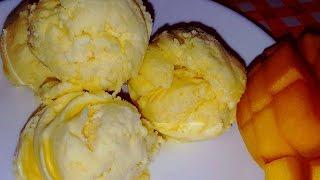 ঘরে তৈরি মজাদার মেঙ্গ আইস-ক্রিম রেসিপি || Mango Ice-cream Recipe full Home made