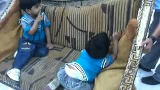 Saad and Taha son of Rizwan and Reshma playing together in