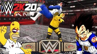 Homero VS Vegeta - WRESTLEMANIA 33: Fight For Honor - (WWE Universal Championship)