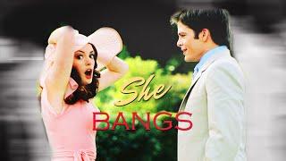Anne Hathaway & Chris Pine Mia & Nicholas  S h e  B a n g s The princess diaries