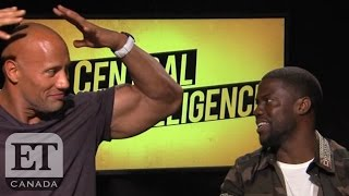 Dwayne Johnson And Kevin Hart Compare Muscle Size