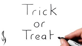 How to Turn Words Trick or Treat into a Cartoon #41