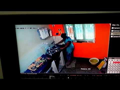 Maid Urinating in Utensils Caught on Camera(1)