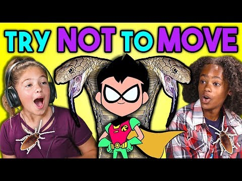 KIDS REACT TO TRY NOT TO MOVE CHALLENGE #2