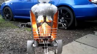 AT-ST Wood Burner.. Made From A Gas Bottle....