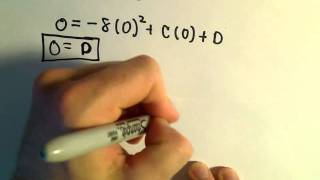 Antiderivatives: Acceleration, Velocity, Position Functions - A Word Problem