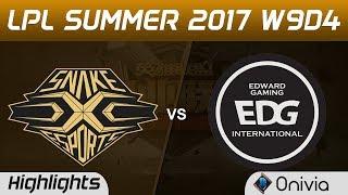 SS vs EDG Highlights Game 3 LPL SUMMER 2017 Snake vs Edward Gaming by Onivia