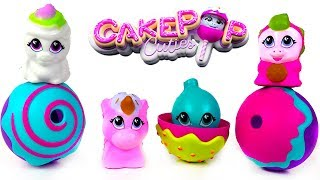 UNBOXING CAKEPOP CUTIES SERIES ONE WITH MYSTERY CUTIES INSIDE AND PLAY FUN AT THE AMUSEMENT PARK