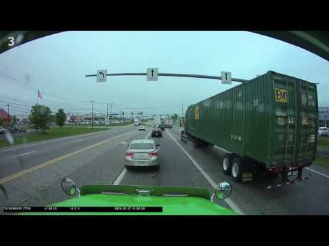 What You Don't Do In Front Of A Semi Truck!