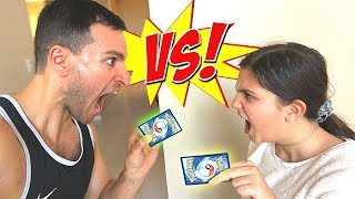 *WHO WINS?!* Family Pokemon Cards Opening VS Little Cousin!