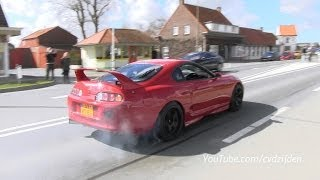 Ferrari F355 and Toyota Supra Power Launch!