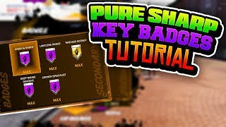FASTEST METHOD TO GETTING YOUR PURE SHARPSHOOTER KEY BADGES!! EXPLAINED TUTORIAL NBA 2K18
