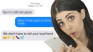 I CANT BELIEVE HE TEXTED THAT!
