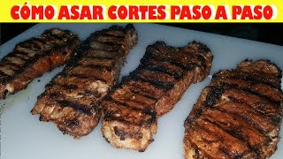 Como Asar Cortes De Carne Paso a Paso / How to grill new york steaks