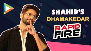Shahid Kapoor's NAUGHTY Rapid Fire| Kiara Advani Is Like DUDHI | Perfect Kiss | Weirdest Pickup Line