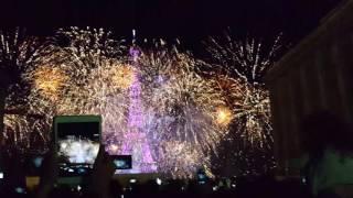 Bastille day France Eiffel Tower Fireworks part 1 2016