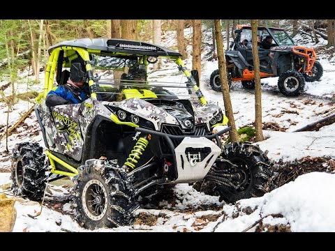 Xxx Mp4 Creek Cruzin In The SXS S Can Am Polaris UTV S Trail Riding In Snow Covered Forest 3gp Sex