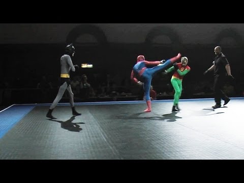 Batman and Robin vs Spider-Man - Full MMA Fight
