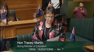 Question 7 - Hon Nikki Kaye to the Acting Minister of Education