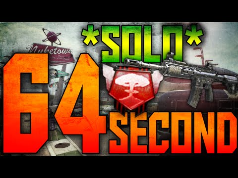 BO2: *INSANE* 64 Second Nuclear *SOLO* w/M27 - Call of Duty: Black Ops 2