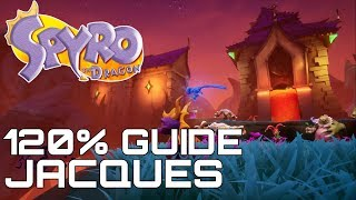 Spyro The Dragon (Reignited) 120% Guide JACQUES (ALL GEMS, EGGS, DRAGONS...)