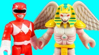 Imaginext Power Rangers Scorpina & King Sphinx And Squatt & Baboo Toy Review With Just4fun290