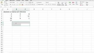 Excel Bangla Tutorial - Part - 4 - Absolute vs Relative Cell Reference by Afrin FZ