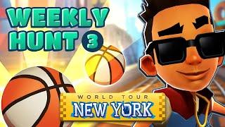 🏀 Collecting Basketballs in New York - Subway Surfers Weekly Hunt (Week 3)