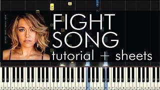 Fight Song - Piano Tutorial - How to Play - Rachel Platten - Sheets