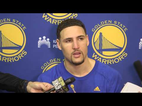 Klay Thompson completely loses train of thought talking about turnovers