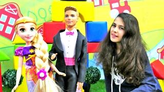 Ken ve Rapunzel evlendiriyoruz. Elbise boyama oyunu. Evlilik oyunu oyna