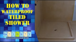 How to Waterproof Tiled shower professionally DIY