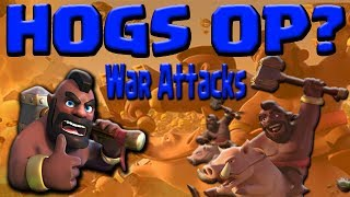 HOGS BEST TROOP UPDATE? TH9 GoHo Attack Strategy   War Clash of Clans