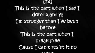 Ariana Grande - Break Free - Lyrics - ft Zedd