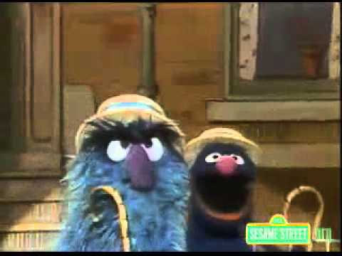 Classic Sesame Street Fuzzy and Blue and Orange