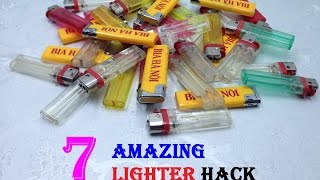 7 Amazing Lighter Hack - 7 Life hacks with the lighter - Life Hacks