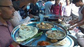 2 Tandoori Roti 2 Veg Curry Achar Only 24 rs | Kolkata Street Food Zindabad