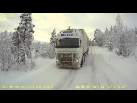 Ice road trucking in west Norway