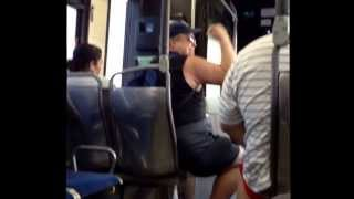 Crazy guy on public bus MUST WATCH !!!