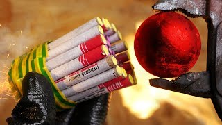 1000 DEGREE METAL BALL VS FIRECRACKERS | 6 AWESOME EXPERIMENTS AND TESTS