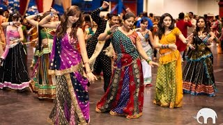 Beautiful Indian Girls Dance Garba and Celebrate Navratri