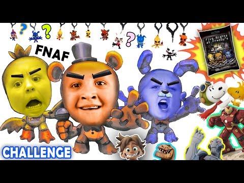 FIVE NIGHTS at FREDDY'S Blind Bag Challenge! w/ Disney Infinity Ultron, HB & The Good Dinosaur SPOT