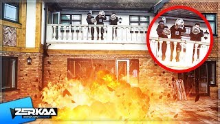 We DROPPED 25,000 Fun Snaps Off of a Balcony! *EXPLOSION*